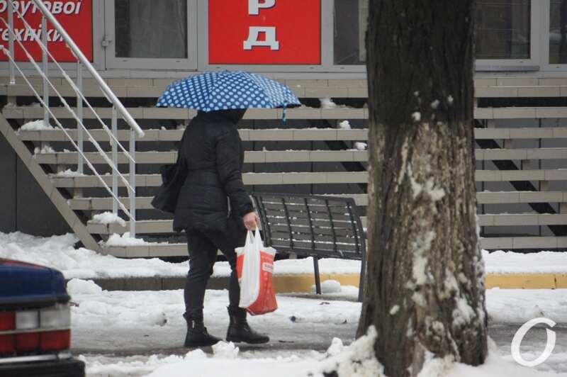 дождь и снег в Одессе