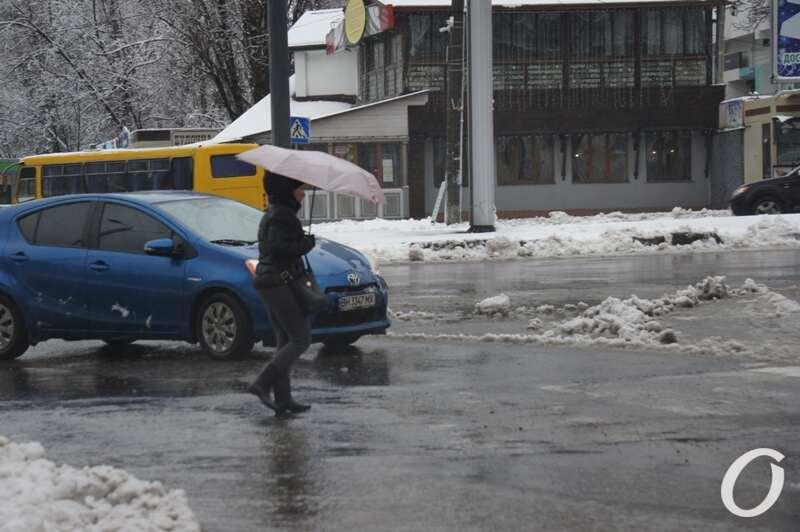 дороги, дождь, зонтик