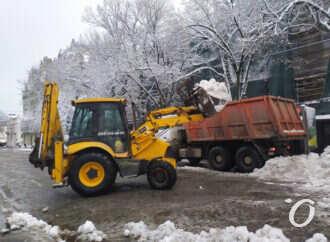 Снегопад по-одесски: как чистят Дерибасовскую (фото, видео)