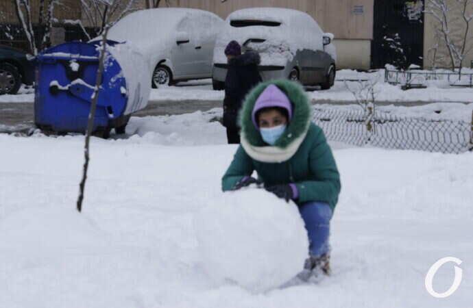 Одесситы и снег: кто и чем занимался после первого снегопада (фото)