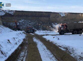 В Одесской области обнаружили нелегальный карьер (фото)