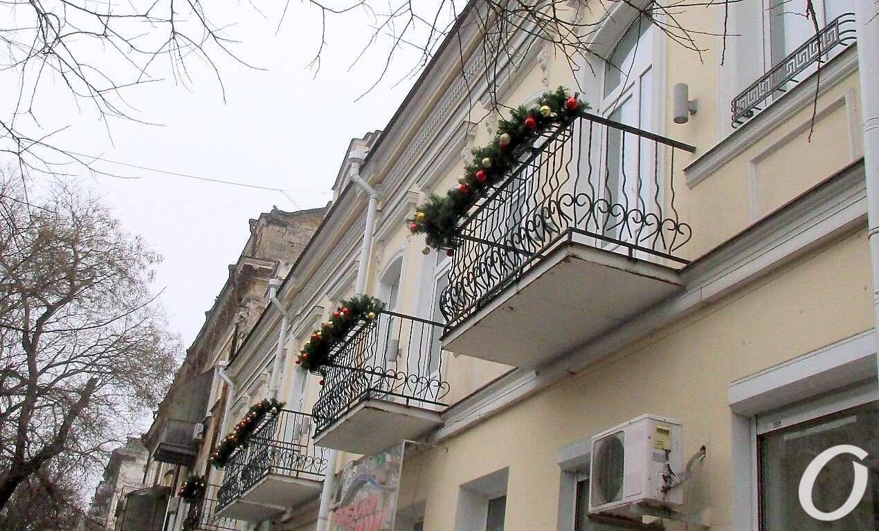 Новогодье по-одесски: балконы
