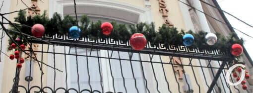 В Одессе не хотят расставаться с Новым годом (фото)