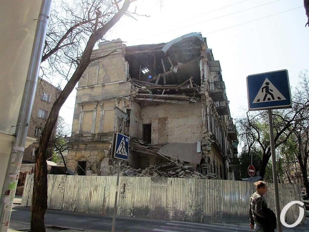 Дом на Канатной, после обвала