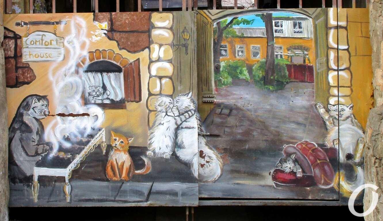 одесские котики на воротах