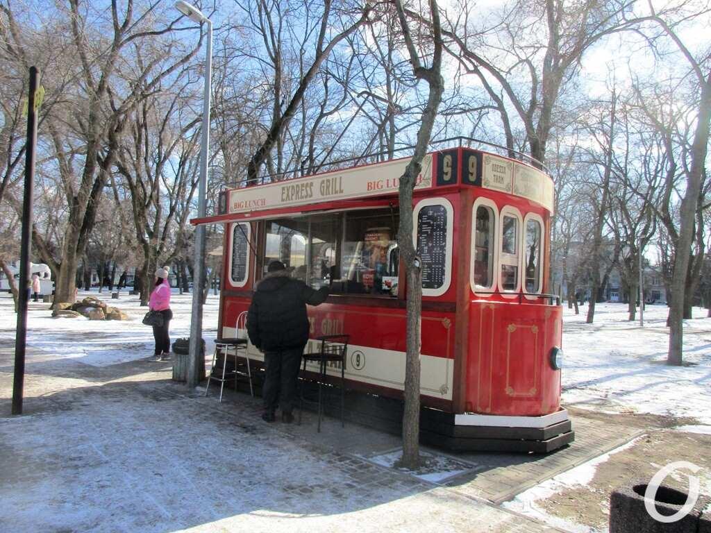 Старосенной сквер, арт-трамвай