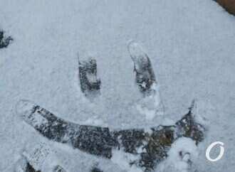 Капризы природы: запад и север Украины засыпает снегом (видео)