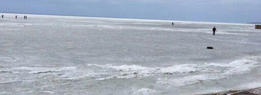 В Одесской области дети разгуливали по тонкому льду Днестровского лимана