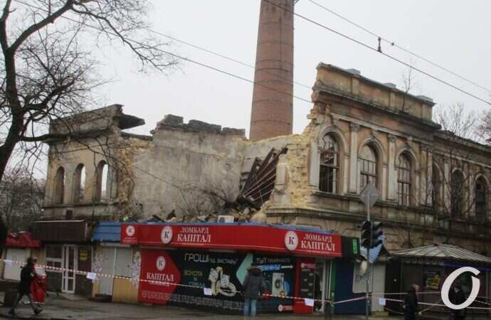 В Одессе рухнула «Полярная звезда» — бывший завод мороженого и памятник архитектуры (фото)