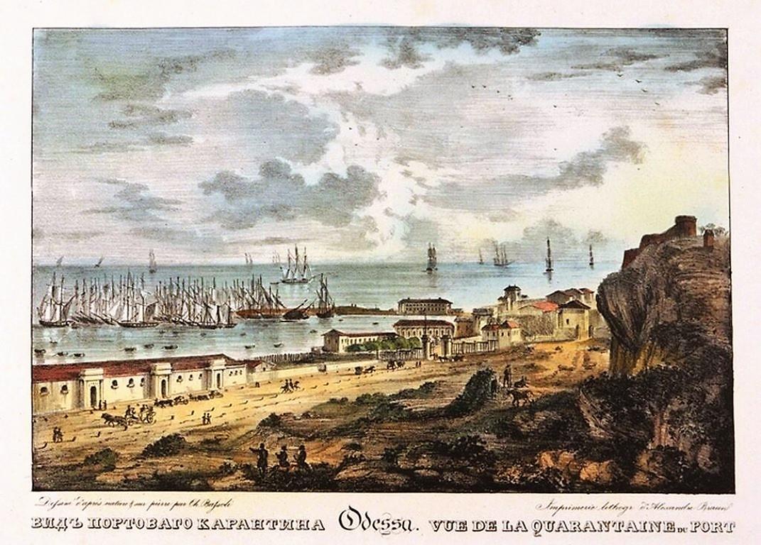 Одесса на гравюрах, порт