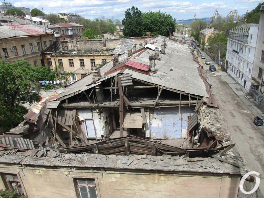 обрушение в Одессе, Польский спуск