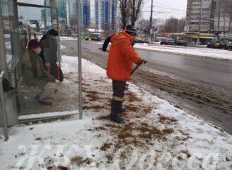 Гололед в Одессе: мэрия рассказала о ситуации на улицах города (фото)
