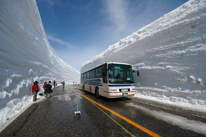 Япония, снежный тоннель