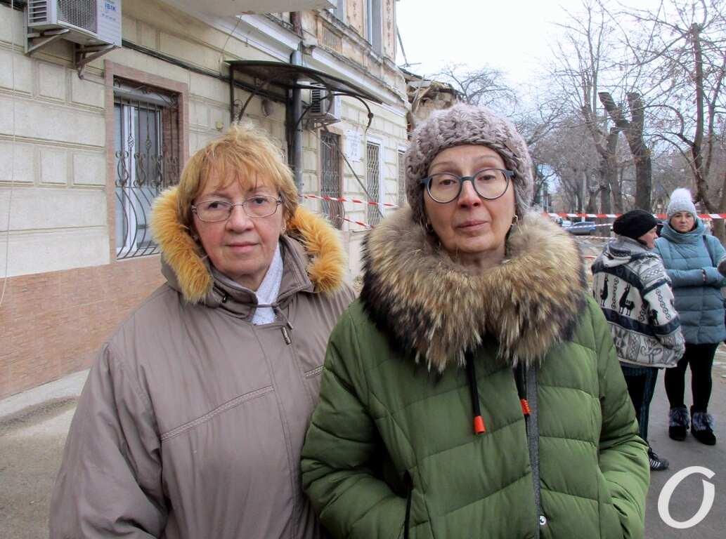 пострадавшие жильцы дома на Нежинской
