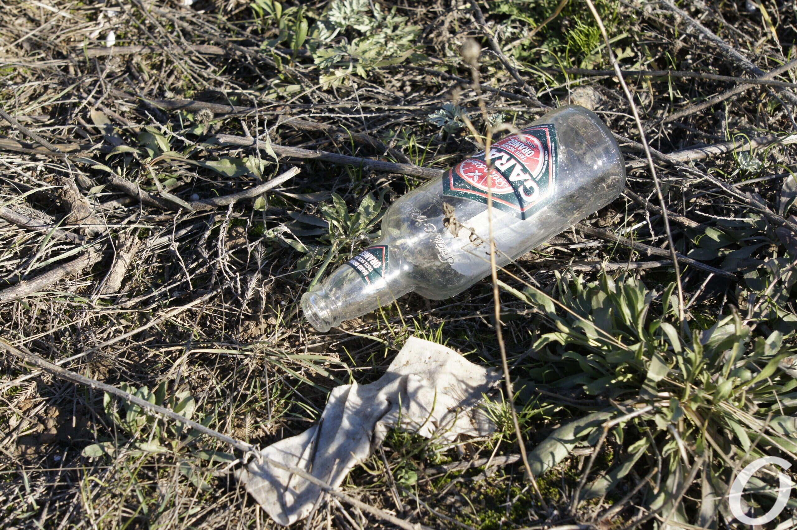 мыс Большой Фонтан, мусор