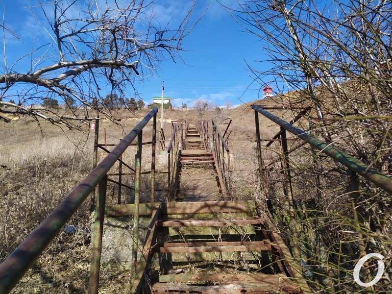 мыс Большой Фонтан, лестница