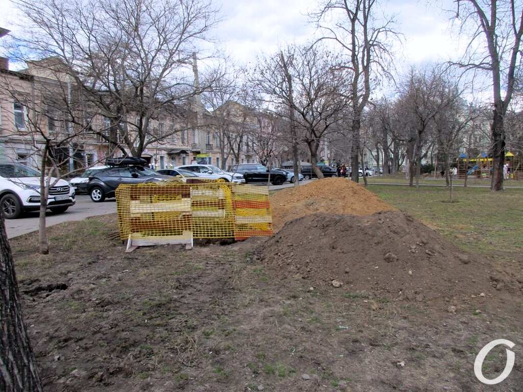 Соборная площадь, стройка подстанции