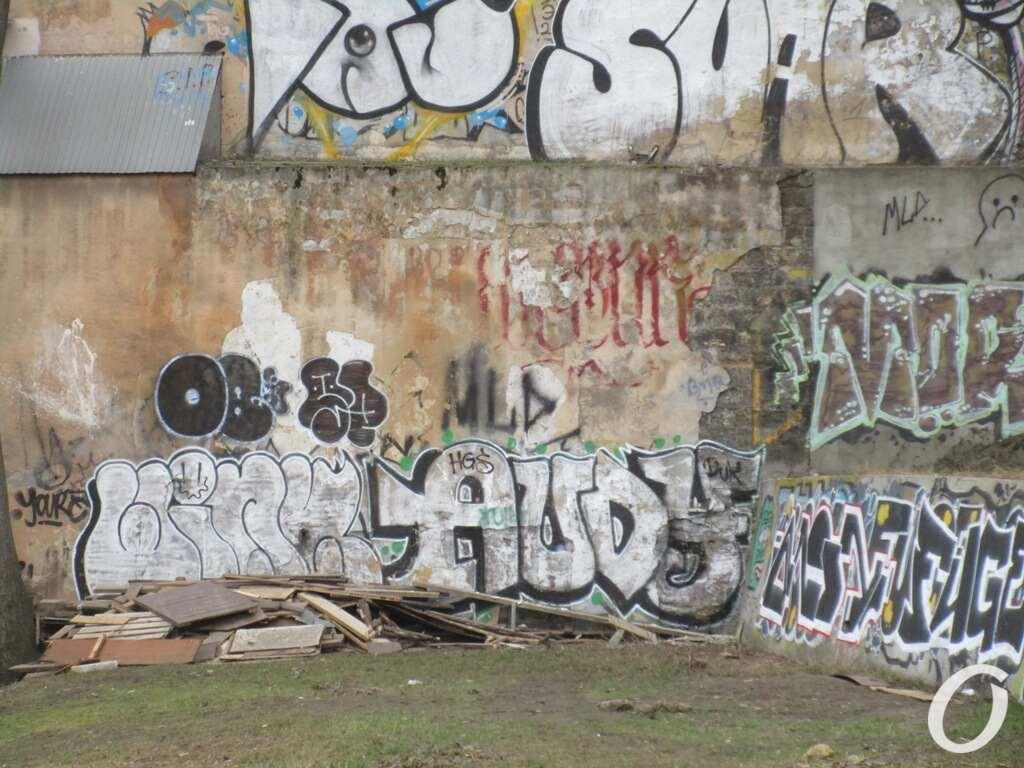 стена под Тещиным мостом