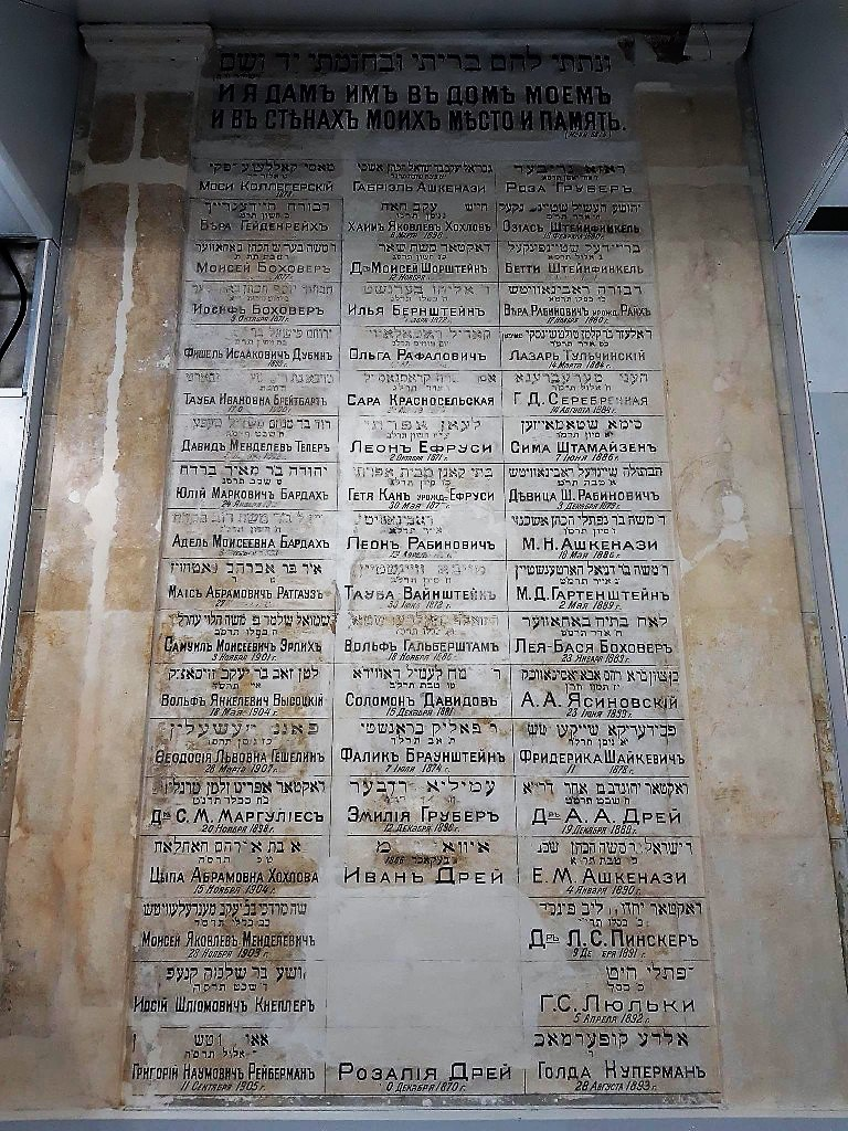 находка в Еврейской больнице, списки