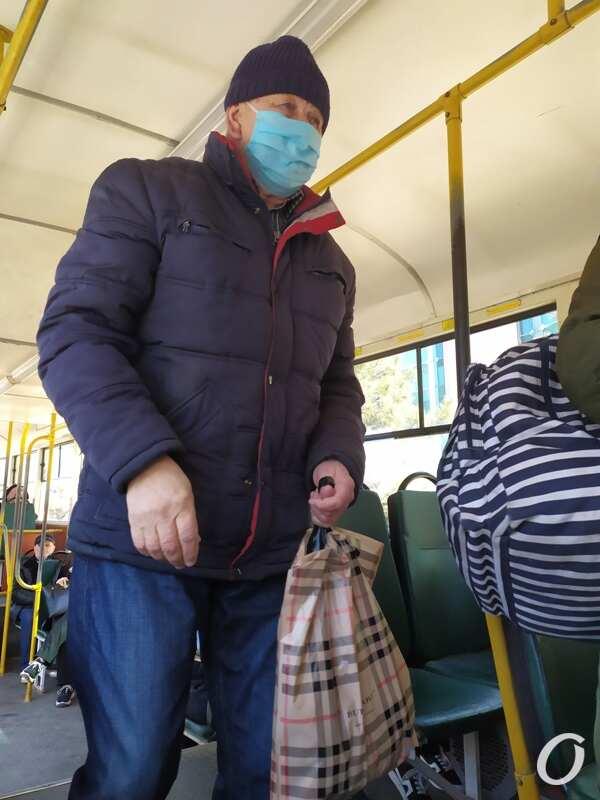 карантин в одесском транспорте, троллейбус