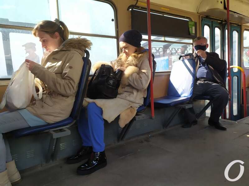 карантин в одесском транспорте, трамвай
