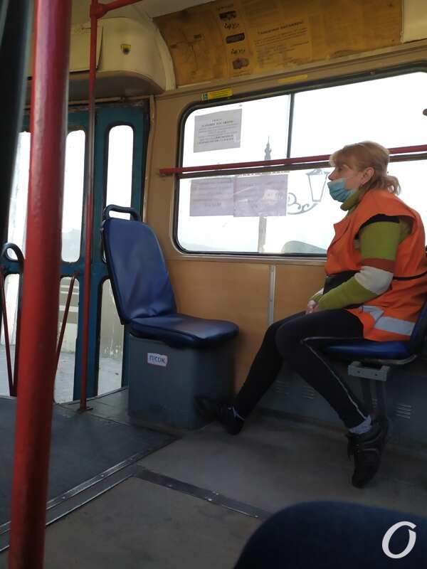 карантин в одесском транспорте, кондуктор