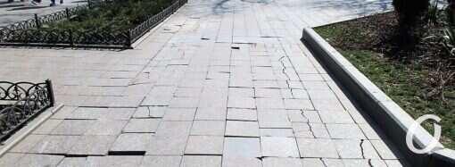 В Одессе грядет капремонт тротуаров Приморского бульвара (фото)