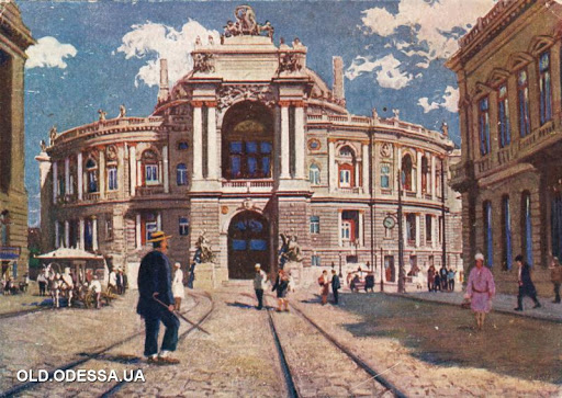 Сколько этажей в Оперном театре и где в Одессе Фраер-штрассе и Триумфальная арка