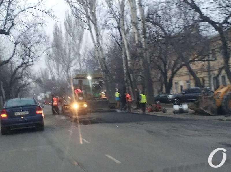 ремонт дороги в Одессе