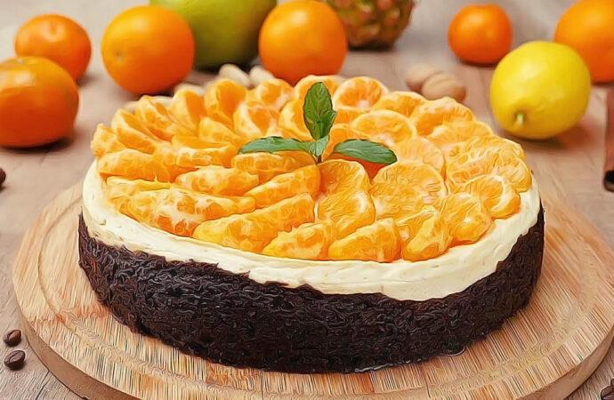 Чизкейк с мандаринами к 8 марта – побалуйте любимых