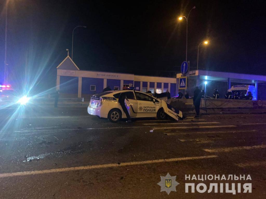 авария под Одессой с участием патрульной полиции