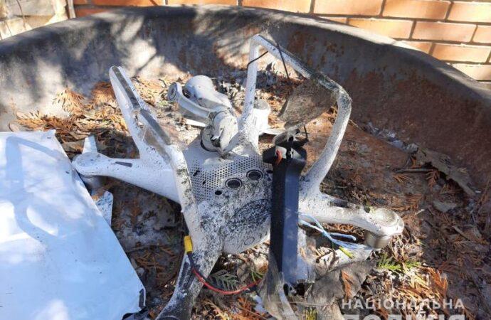 В Одессе сбросили взрывчатку с квадрокоптера во двор дома