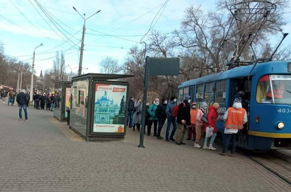 локдаун в Одессе, трамвай