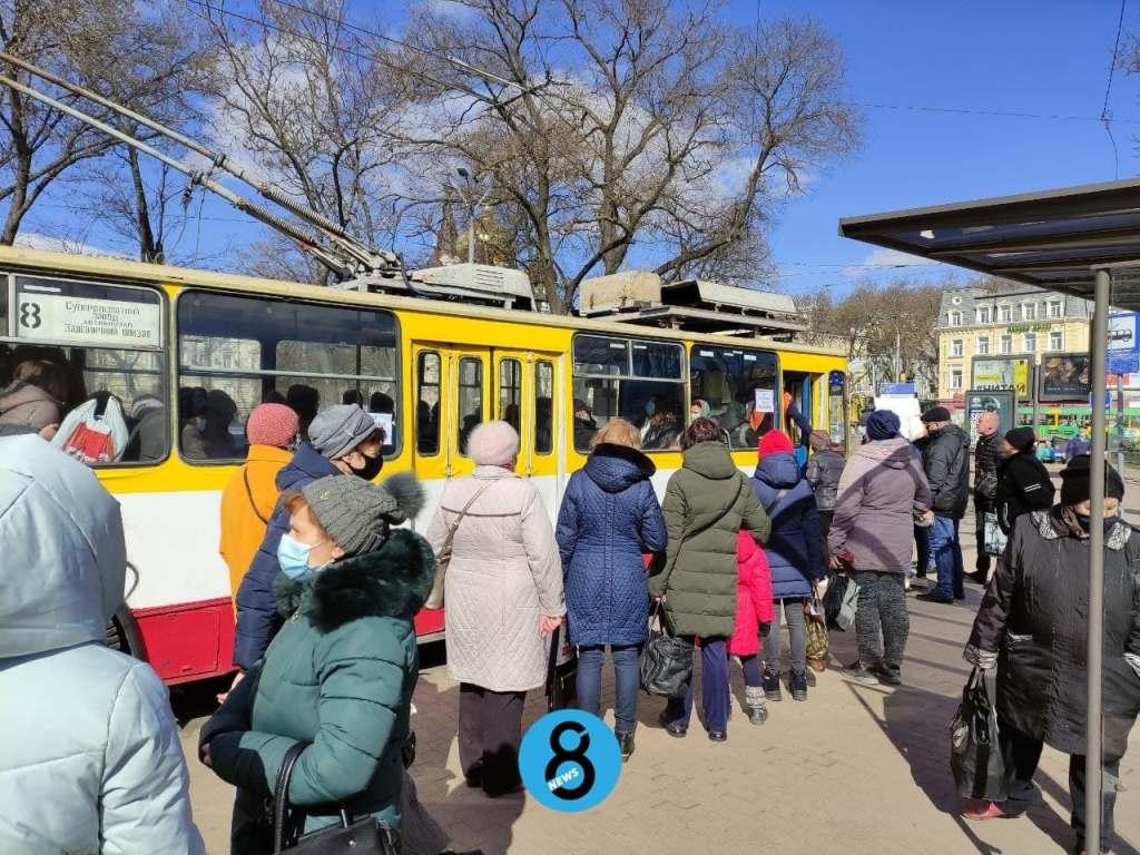 локдаун в Одессе, троллейбус