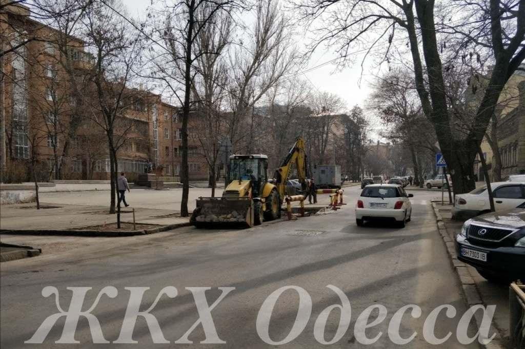перекрытие движения по Маразлиевской в Одессе