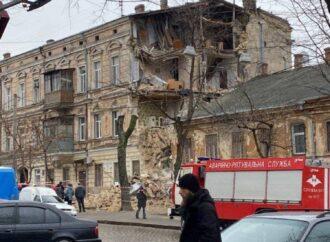 В центре Одессы рухнул старинный дом (фото, видео)