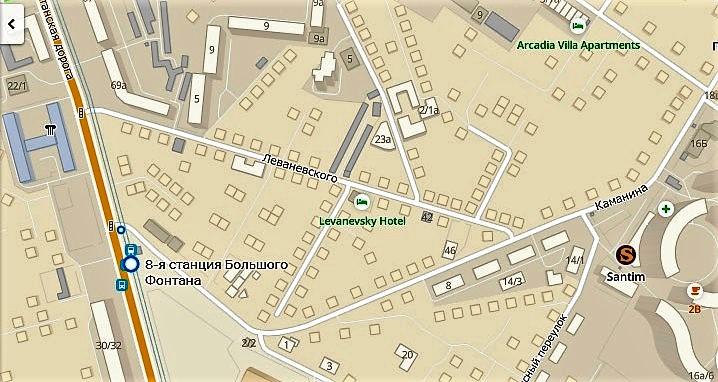 ремонт перекрестка Фонтанской дороги, карта