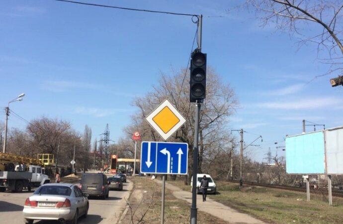 В Одессе на Житомирской установили новый светофор