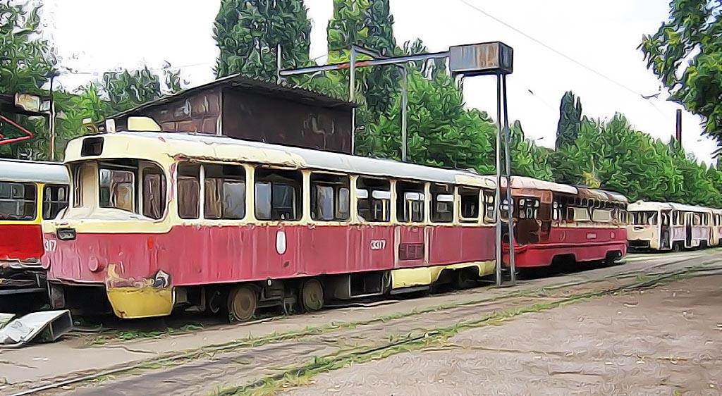 старые трамваи