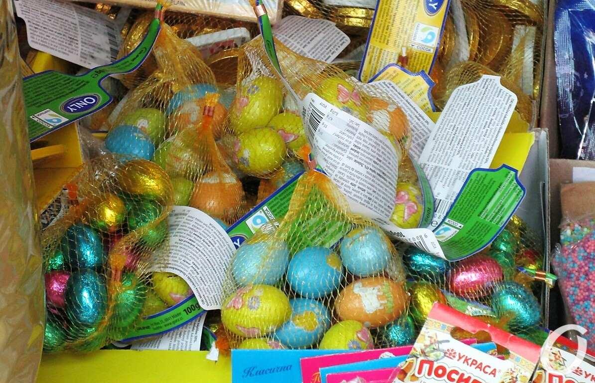 Новый рынок предпасхальный, яйца шоколадные