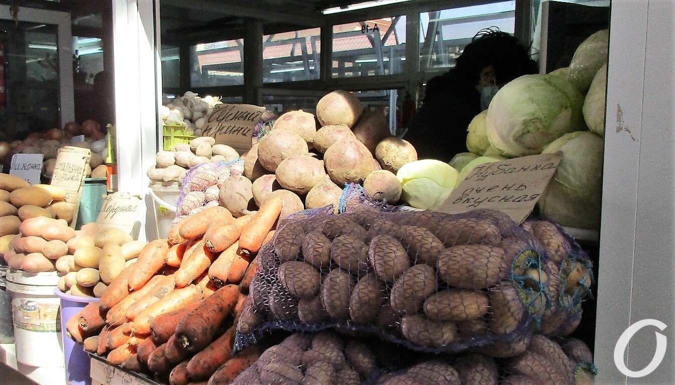Новый базар, картошка в мешках