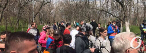 Одесситы провели акцию против застройки Чкаловского пляжа (фото, видео)