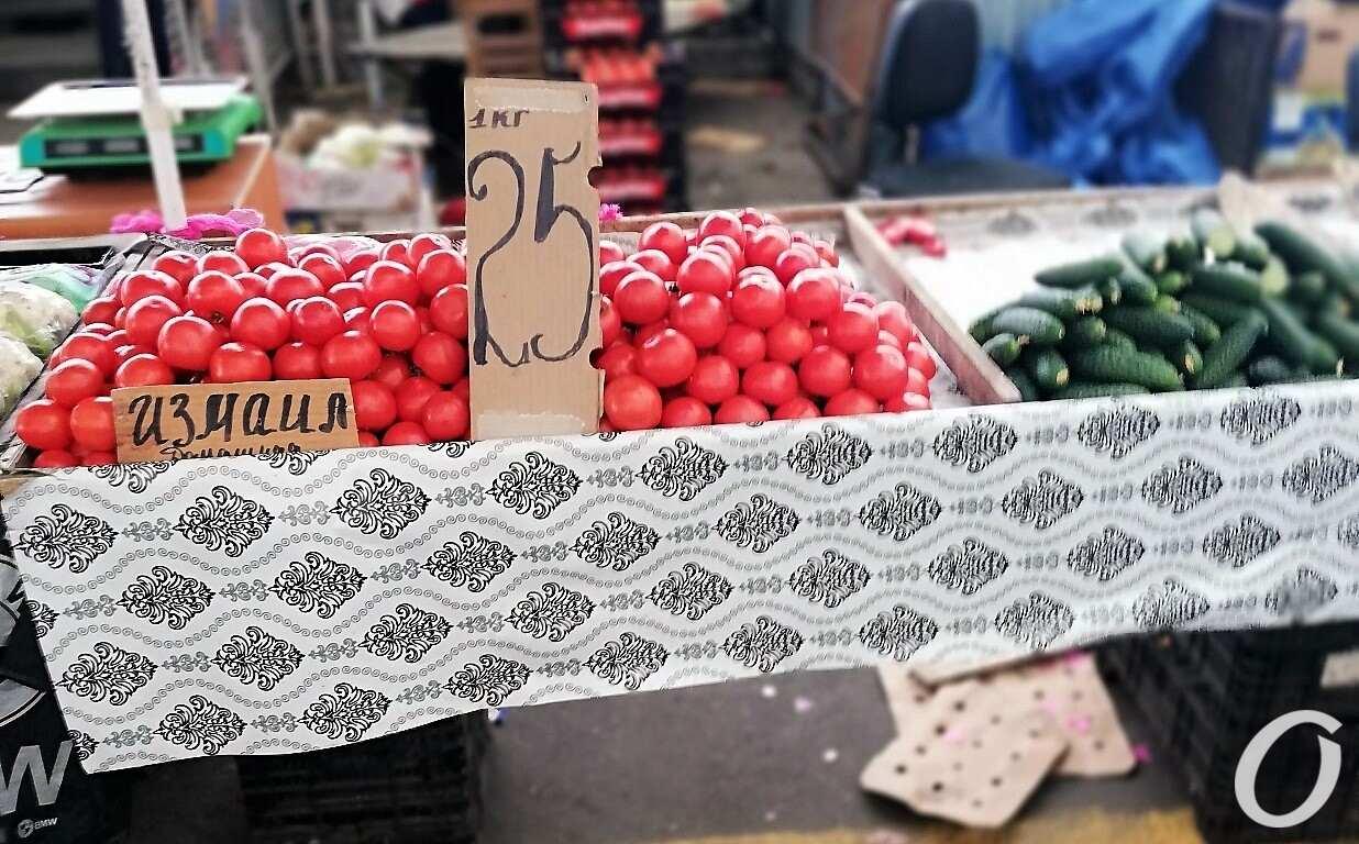 Привоз, помидоры, огурцы