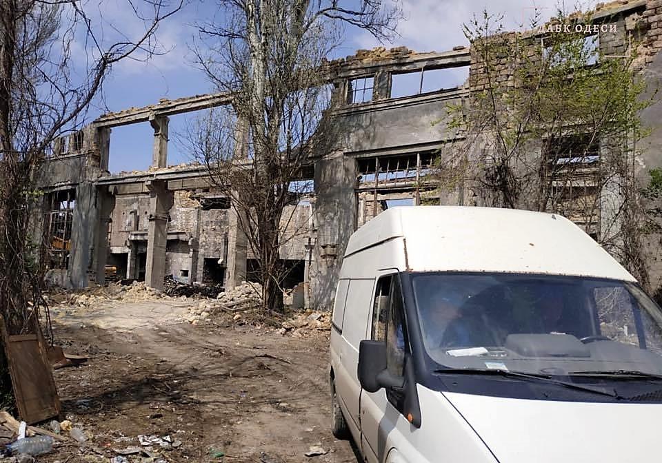 Одесский судоремонтный завод на улице Приморской2