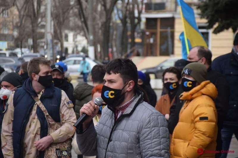 акция протеста в Одессе 6 апреля