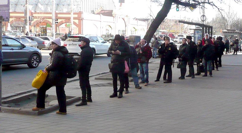 очередь на маршрутку Одесса