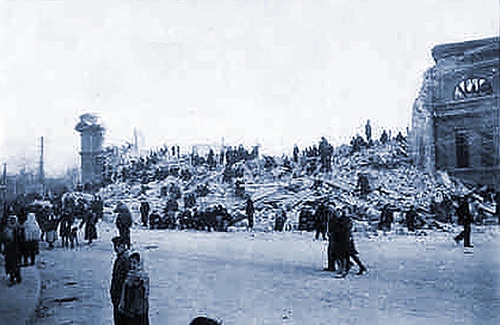 оккупация освобождение Одесса вокзал