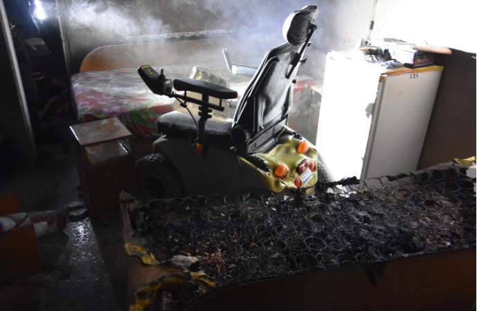В Одессе во время пожара в санатории серьезно пострадал инвалид