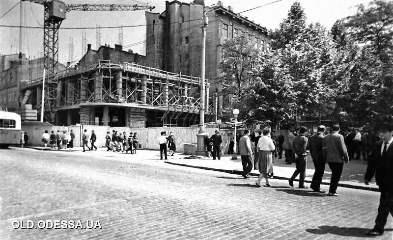 Одесса, 1966 год, строительство ресторана