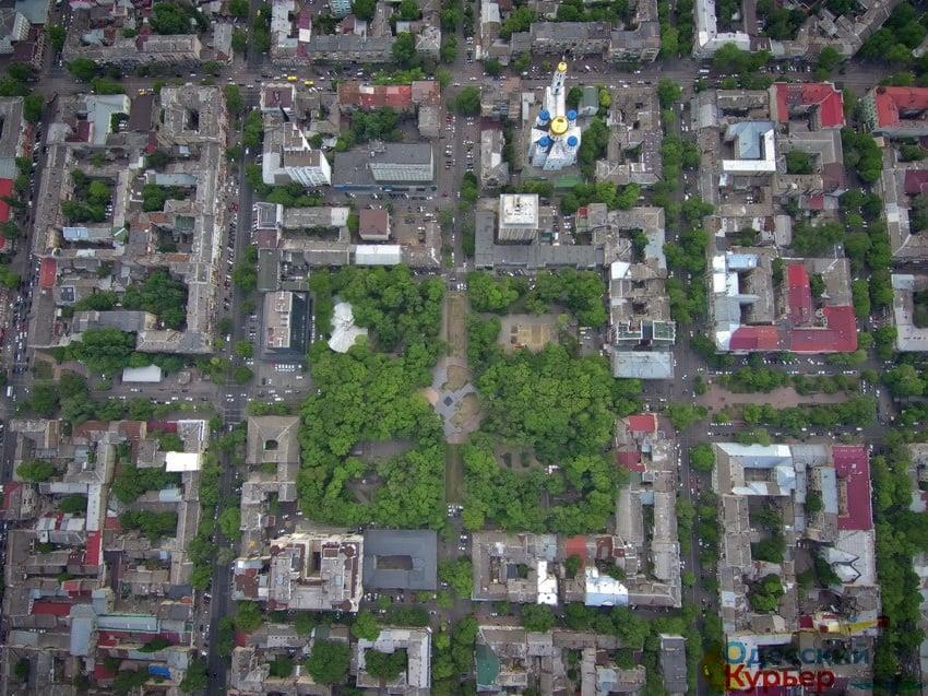 Старобазарный сквер, аэрофото